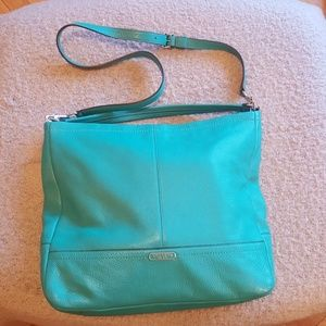 Coach large hobo with detachable crossbody